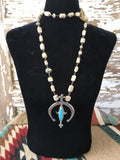 Love tokens bone and turquoise naja