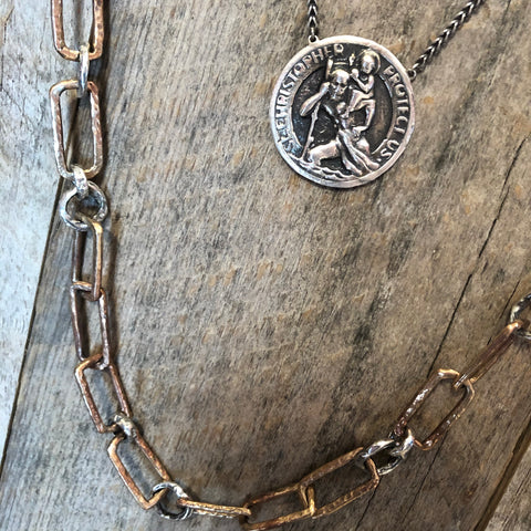 Saint Christopher medal necklace