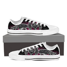 Motor Angel Women's Low Top Canvas Shoes