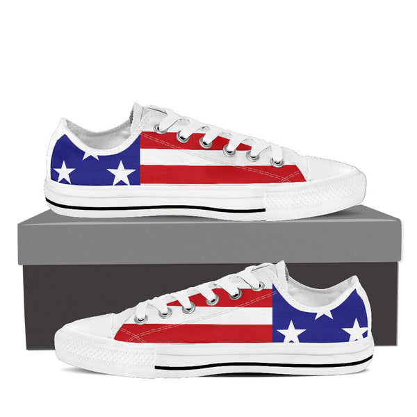 American Stars & Stripes Women's Low Top Canvas Shoes