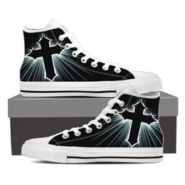 Armored Cross Men's High Top Canvas Shoe