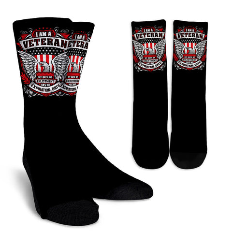 Veteran Eagle Crew Socks