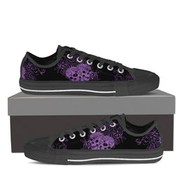 Wild Skulls & Roses Women's Low Top Canvas Shoe