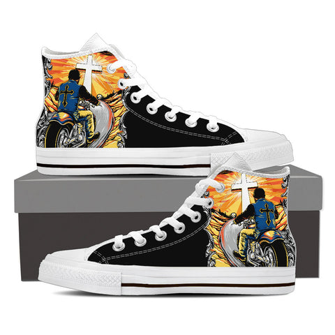 Fueled By Jesus Men's High Top Canvas Shoes