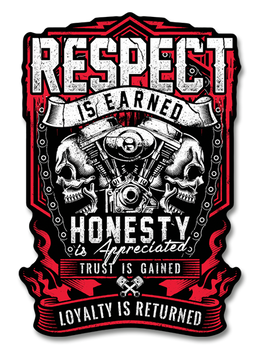 "Respect is Earned 7"" Decal"