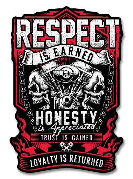 "Respect is Earned 4"" Decal"