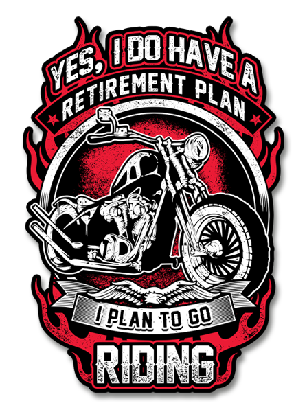 "Yes, I Have a Retirement Plan 7"" Decal"
