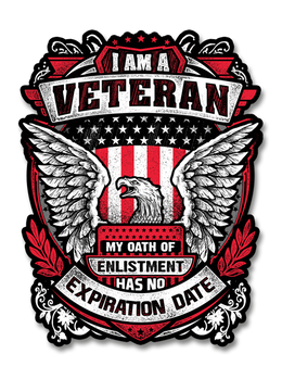 "I Am A Veteran - Eagle 4"" Decal"