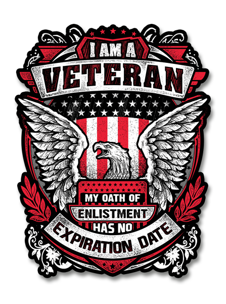 "I Am A Veteran - Eagle 7"" Decal"