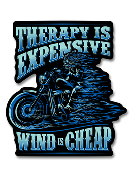 "Therapy is Expensive Wind is Cheap 7"" Decal"