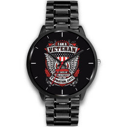 Stainless Steel Veteran Oath Eagle Watch