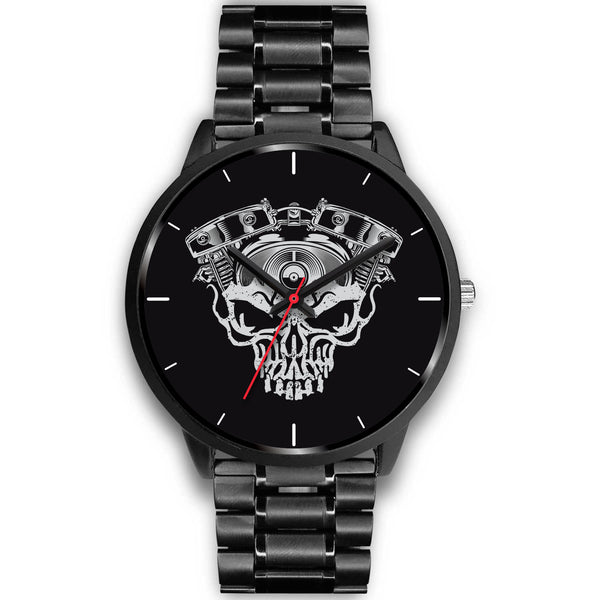 V-twin Engine Skull Watch