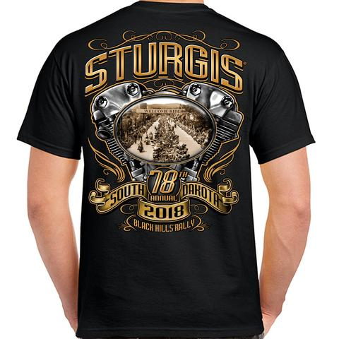 2018 Sturgis Black Hills Rally South Dakota Main Street T-shirt