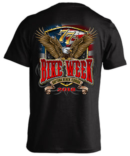 2018 Daytona Beach Bike Week Flag and Eagle - 77th Anniversary