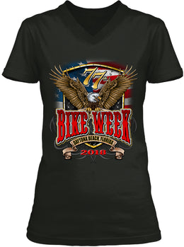 2018 Daytona Beach Bike Week Flag and Eagle - 77th Anniversary (Ladies)