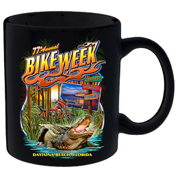 2018 Daytona Beach Bike Week Old Florida Gator - 77th Anniversary Mug