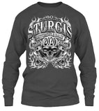 2020 Sturgis Motorcycle Smokey Skull - 80th Anniversary (Front Print)