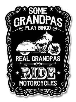 "Real Grandpas Ride Motorcycles 7"" Decal"