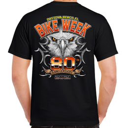 2021 Bike Week Daytona Beach 80th Anniversary Chrome Eagle 80th Anniversary T-shirt