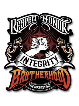 "The Bikers Code Brotherhood 4"" Decal"