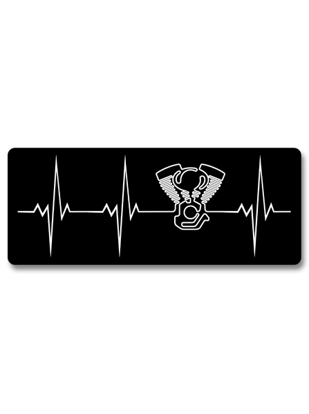 "Heartbeat Of A Biker V-twin 7"" Decal"