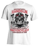 Have You Ever Seen A Handgun Fired From A Moving Motorcycle (Front Print)