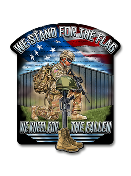 "Stand For The Flag, Kneel For The Fallen 7"" Decal"