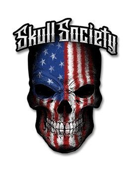 "Skull Society Stars & Stripes 7"" Decal"