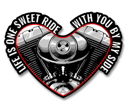 "Life Is One Sweet Ride With You By My Side 4"" Decal"