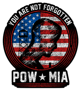 "POW/MIA You Are Not Forgotten 7"" Decal"