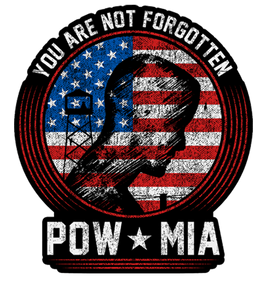 "POW/MIA Your Are Not Forgotten 4"" Decal"