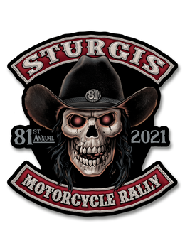 "2021 Sturgis Rally Cowboy 80th Anniversary 7"" Decal"