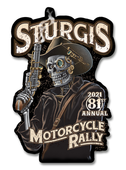 "2021 Sturgis Rally Steampunk Cowboy 80th Anniversary 7"" Decal"