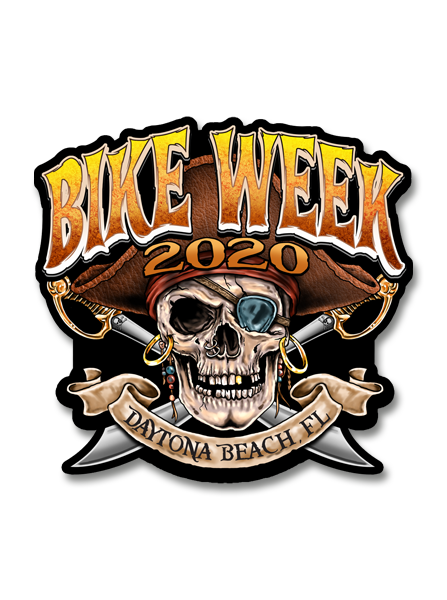 "2020 Daytona Pirate 79th Anniversary 7"" Decal"