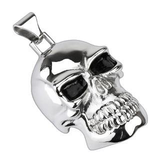 Stainless Steel X-Large Skull Pendant