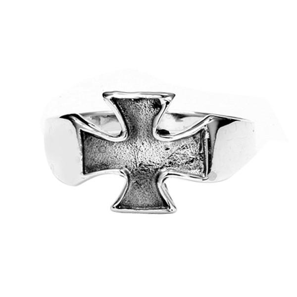 Sterling Silver Small Iron Cross Ring