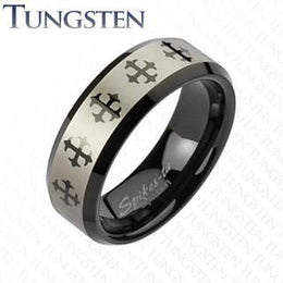 Tungsten Carbide Cross Band Ring