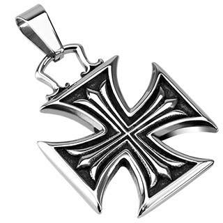 Stainless Steel Iron Cross Within Celtic Cross Pendant