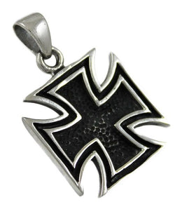 Stainless Steel Iron Cross Pendant