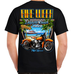 2019 Bike Week Daytona Beach Postcard T-shirt