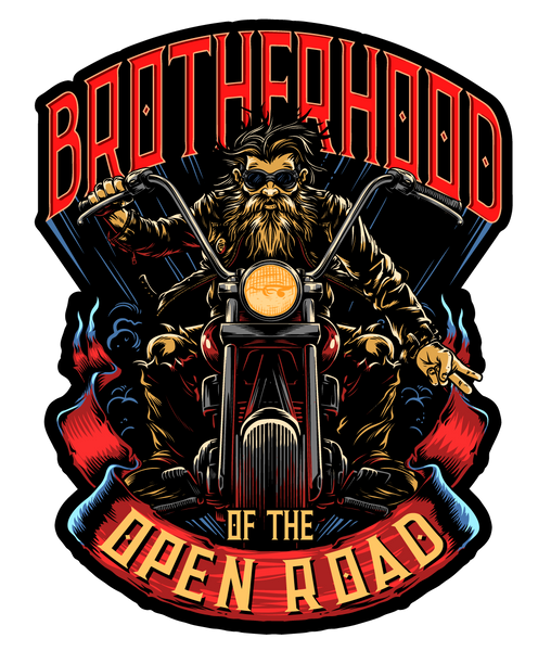 "Brotherhood of the Open Road 7"" Decal"