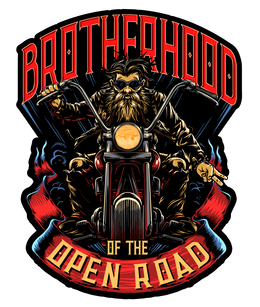 "Brotherhood of the Open Road 4"" Decals"
