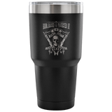 Born, Raised, & Protected By God, Guns, Guts, & Glory Insulated Tumbler