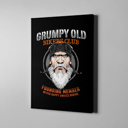 Grumpy Old Bikers Club Canvas Art