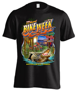 2018 Daytona Beach Bike Week Old Florida Gator - 77th Anniversary (Front Print)