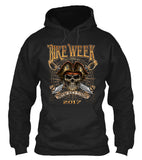 2017 Daytona Beach Bike Week Pirate Skull - 76th Anniversary (Front Print)