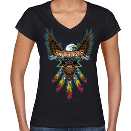 2018 Sturgis Black Hills Rally Native Biker Ladies V-Neck