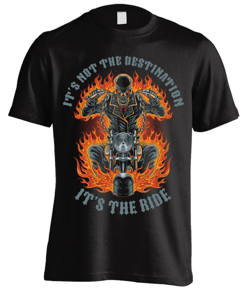 T-shirt - It's Not The Destination, It's The Ride (Front Print)