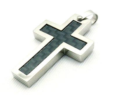 Stainless Steel Unique Cross Pendant - Small