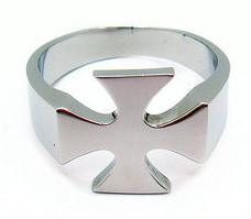 Stainless Steel Maltese Cross Ring